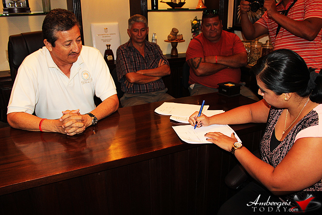 San Pedro Town Council Signs Memorandum Understanding with CARILED