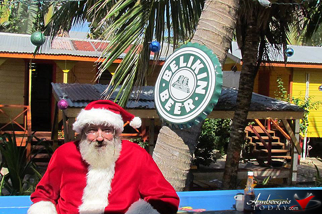 Santa Vacationing in Belize