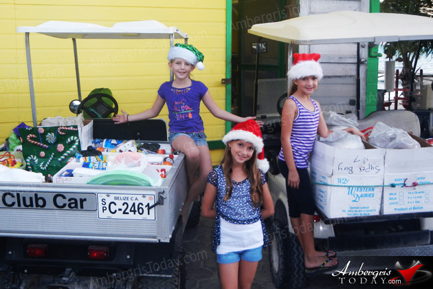 Three Island Girls Become Santa's Little Helpers