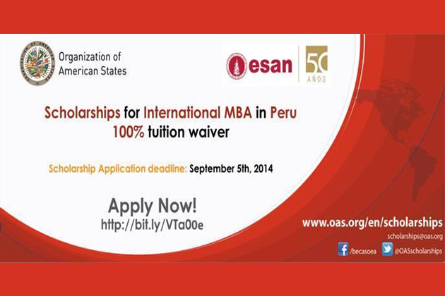 Scholarships for International MBA in Peru Available for Belizeans