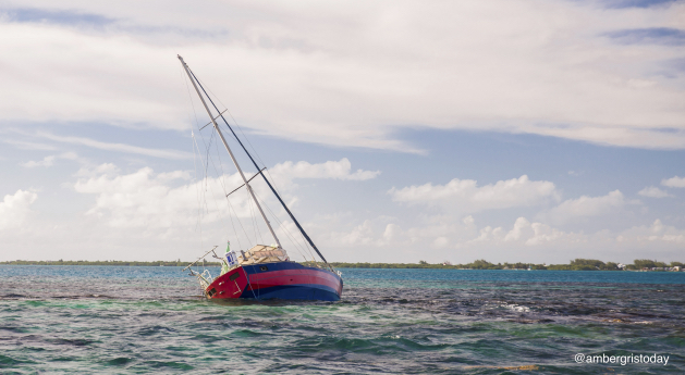 Stranded Vessel Poses Threat to Reef off Caye Caulker