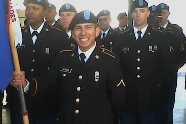 San Pedrano Karim Acosta graduates from the US Army
