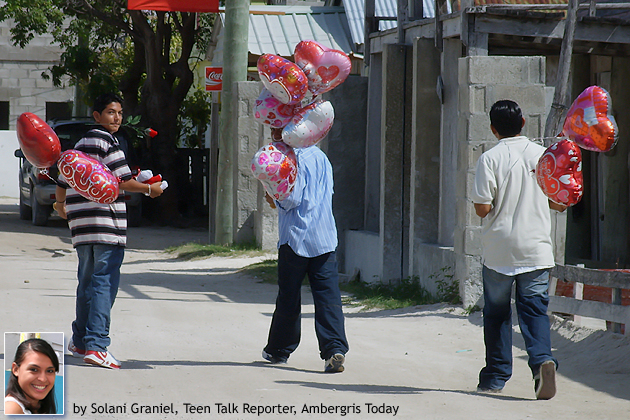 San Pedro High School students take gifts to their valentine