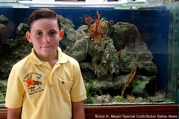 Karly Bischof owner of the St. George's Caye Aquarium