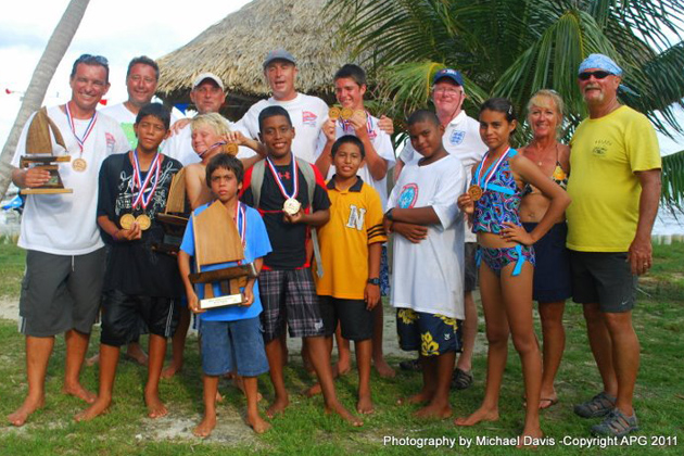 San Pedro Sailing Club students at St. George's Caye Battle Regatta