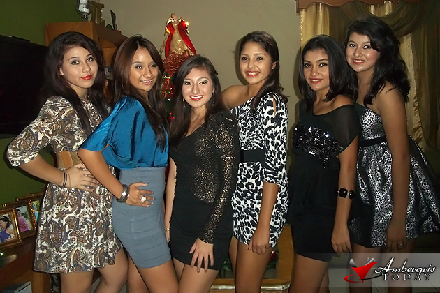 Emilie Gomez and her friends bring in the New Year San Pedro Style