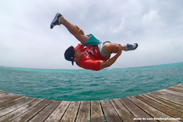 Parkour/Freerunning Athletes Film Commercial in Ambergris Caye