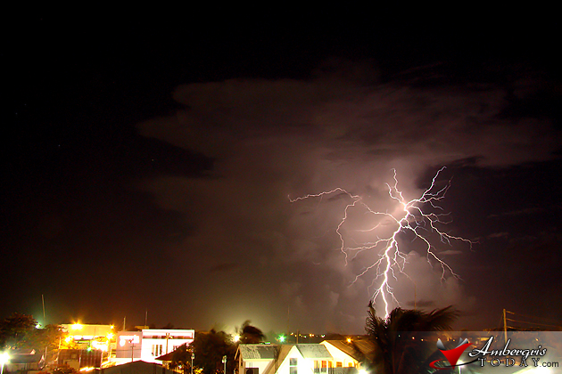 Lightning Strikes during Thunderstorm
