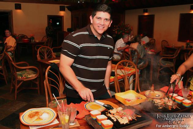 Dorian Nunez dining out Island Style