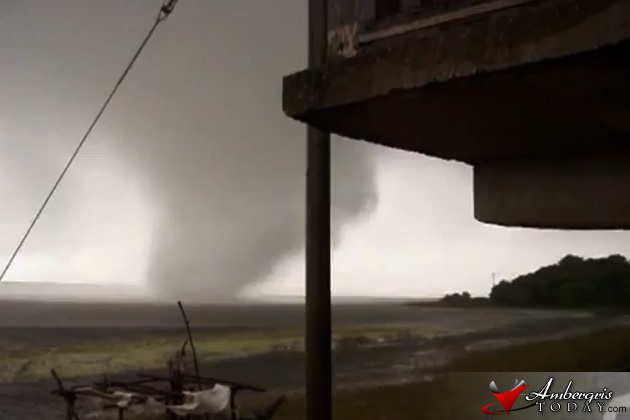 Tornado touchdown in Crooked Tree Village