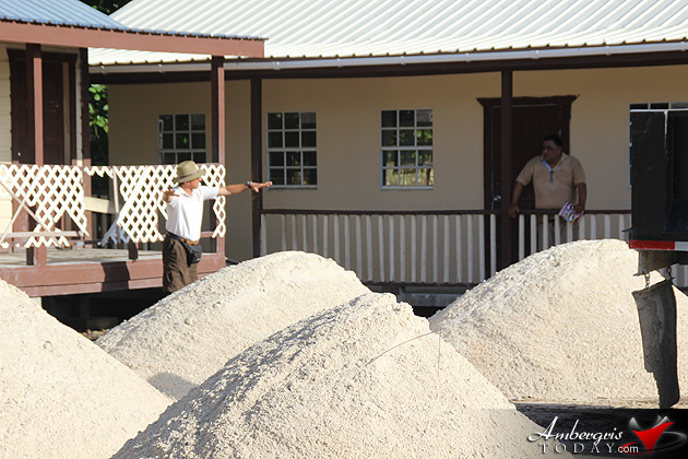 Town Council Delivers Truckloads of Sand to Island Schools
