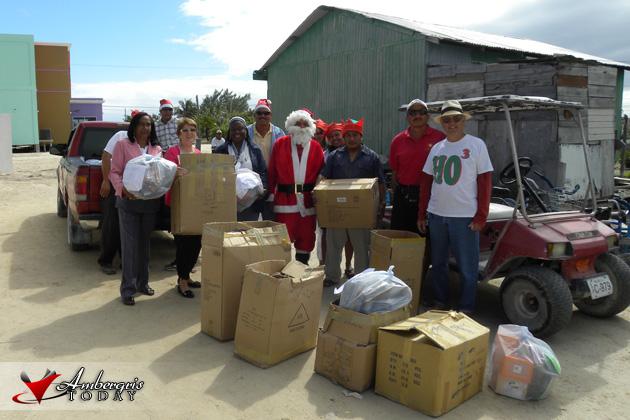 San Pedro Town Council & Santa's Annual Gift Giving
