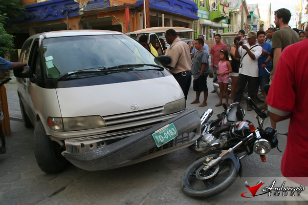 Traffic Accident on Pescadro Drive, San Pedro Town
