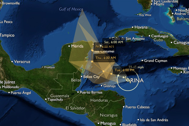 Tropica Storm Rina Threatens Western Caribbean