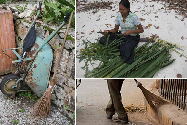 coconut leaf broom sticks