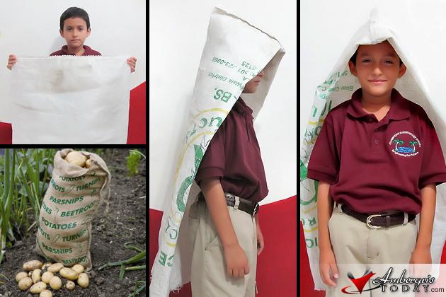 Crocus Sack Used As A Raincoat