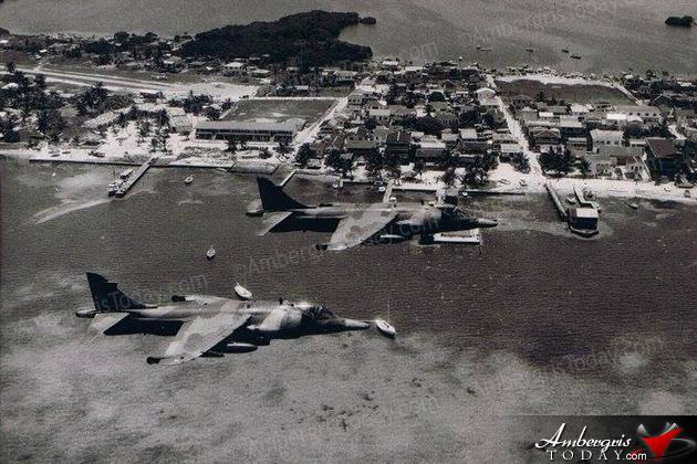 When British Airforce Harrier Jets Patrolled Belize