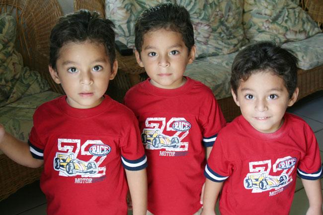 Jose Alberto, Angel David & Victor Daniel Baeza (Triplets)