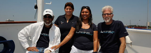 Morgan Freeman, SP Mayor Elsa Paz, Audrey Matura, Ted Danson,