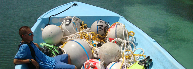 Mooring Buoys prepared for Mexico Rocks