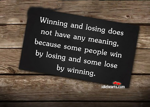 Learning How to Lose