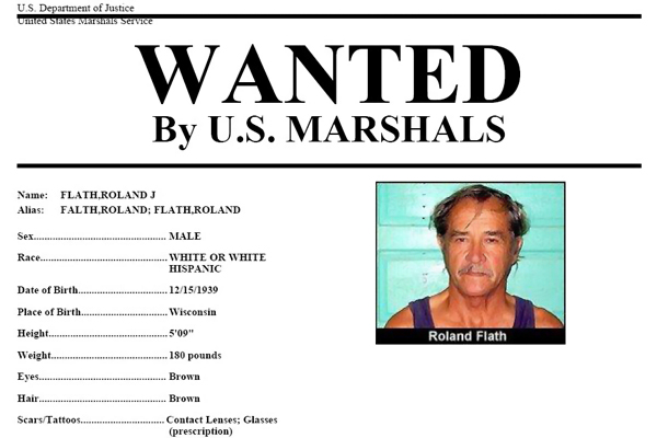 Wanted Poster of Wisconsin resident Ronald J. Flath
