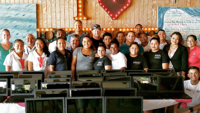 $10K for Oceana Belize, 30 Laptops for San Pedro High, Blue Water Grill