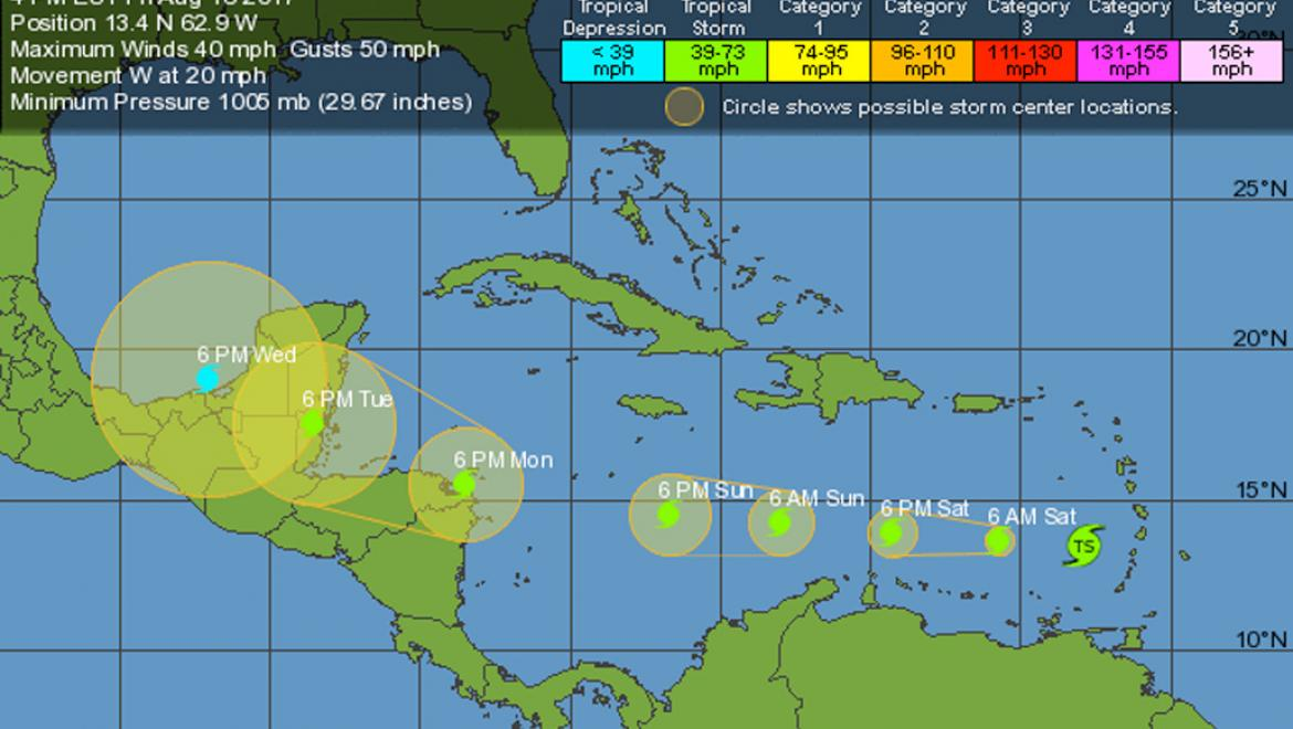 NEMO Belize Issues Advisory No. 1 on Tropical Storm Harvey