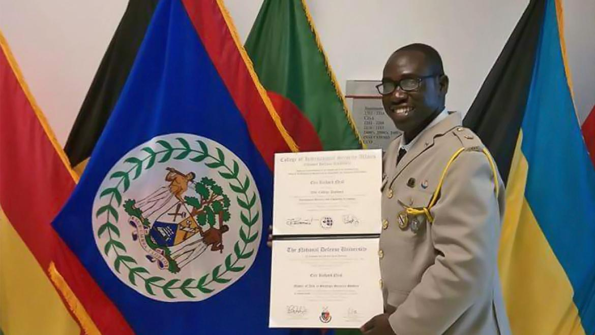 BDF Officer Completes Strategic Security Studies in USA