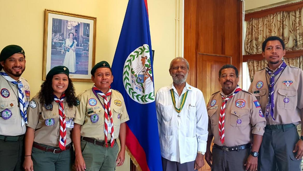 Scouts Pay Courtesy Visit to Belize Governor General