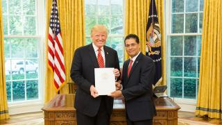 Belize Ambassador to USA Meets President Trump