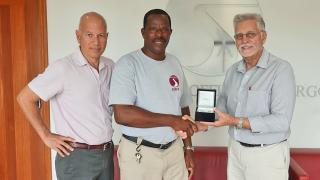 Tropic Air Awards Employee for 30 Years of Service