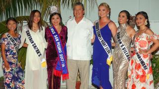Miss San Pedro 2018 Delegates Presented at Sashing Ceremony