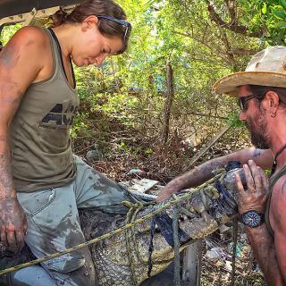 The Amazing Crocodile Hunter Duo of ACES, Chris Summers and Christina Manzi