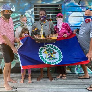 A Record Breaking Toy Pirate Ship Sails the High Seas to Belize