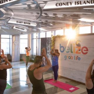 Belize Hosts Sunrise Yoga Session Atop Empire State Building