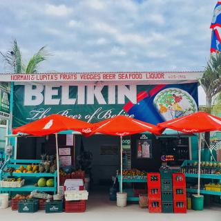 Convenience Produce Stand in San Pedro, Ambergris Caye