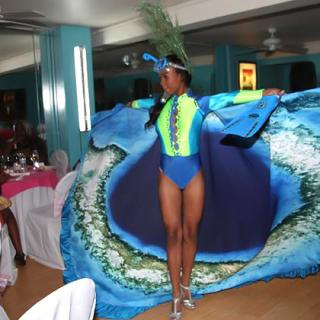 Annlyn exhibits Blue Hole Culutral Costume by RH Creation