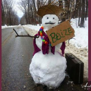 Even Frosty the Snowman Wants to Come to Belize