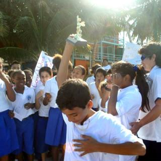 Caye Caulker RC School Celebrates Blayd Vernon's Spelling Bee Win