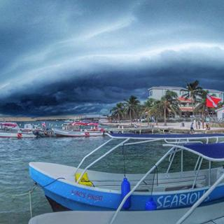 Manacing Storm Cloud over Ambergris Caye