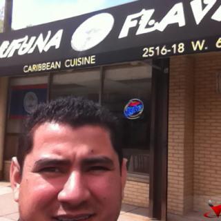 Julio Lara outside Garifuna Flava in Chicago