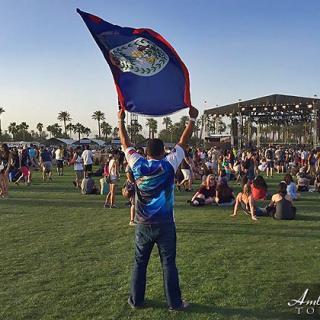 Belize Flag Proudly Waved at Coachella Music Festival
