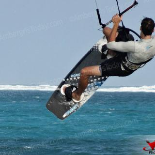 Kite Surfing Fad on Ambergris Caye, Belize