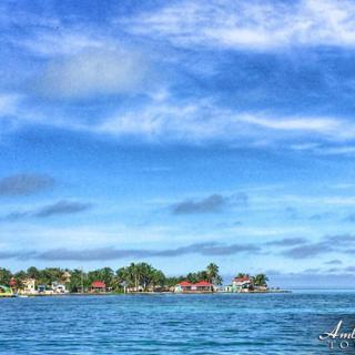 Approaching the Caye Caulker Split by Sea