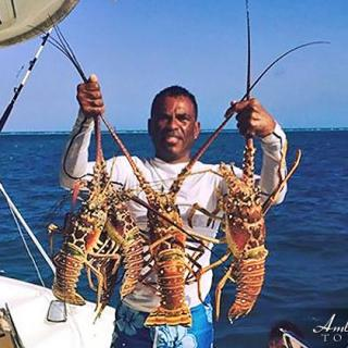 Lobster Season in Belize, Central America, Glover's Reef Atoll