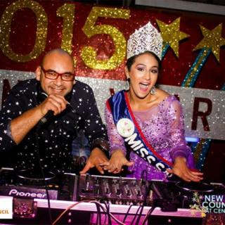 Miss San Pedro, Michelle Nunez, Rocks into 2015 New Year Celebrations