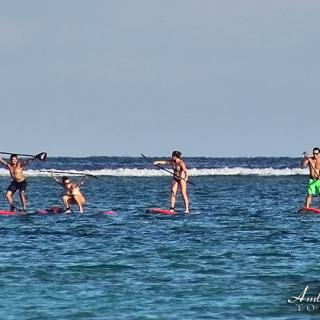 CrossFit Junkies Paddleboard to the Reef