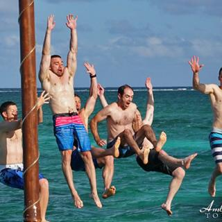 Summer Swim Fun at Palapa Bar, San Pedro, Ambergris Caye, Belize