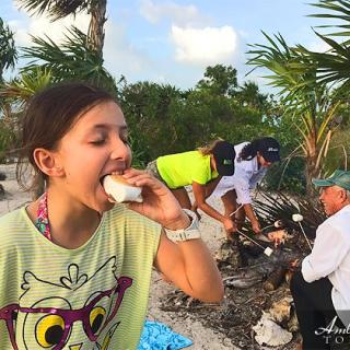 Picnic S'mores on the Beach, San Pedro, Ambergris Caye, Belize
